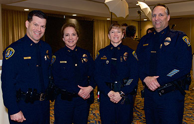 Recognizing Women in Blue