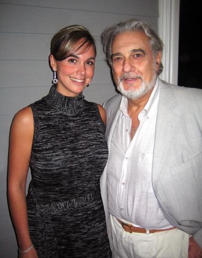 .   Danitza Villanueva and Placido Domingo