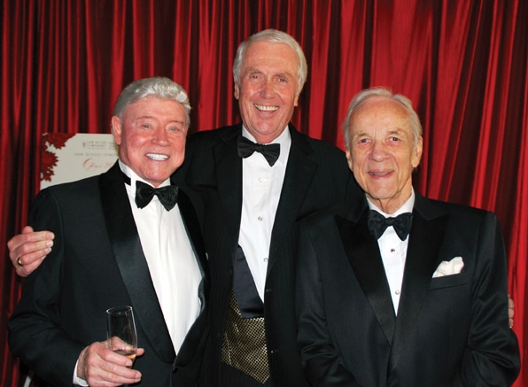 .   Harry Cooper, Harvey White and Conrad Prebys at Opus Gala