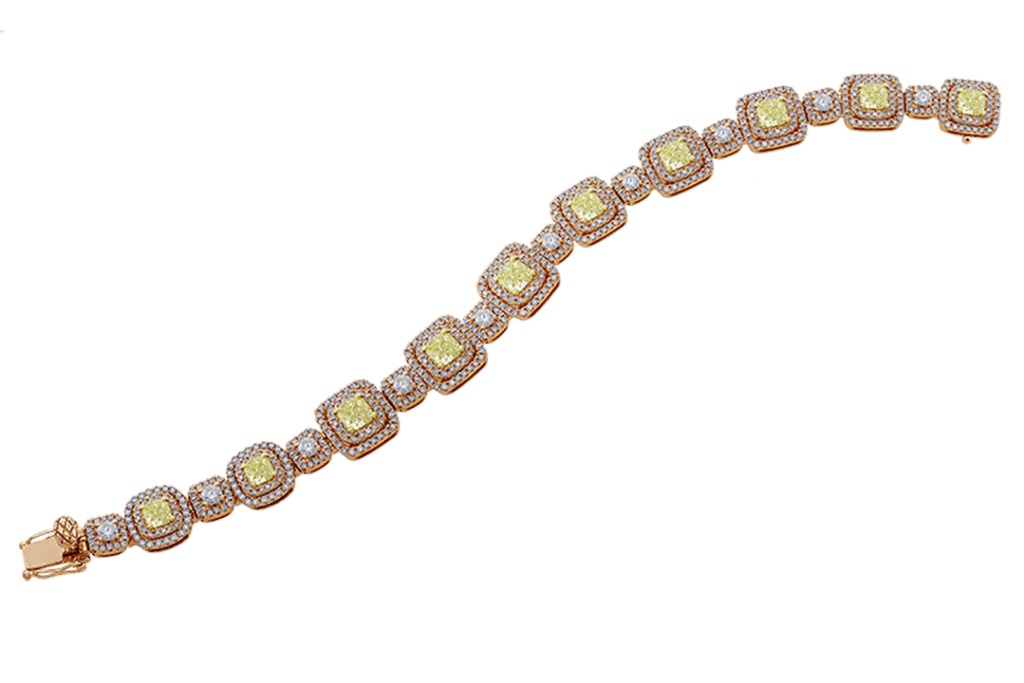 kt Rose Gold Fancy Yellow Diamond Bracelet .png