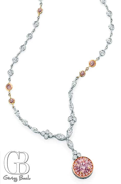 ct Fancy Light Purplish Pink Necklace