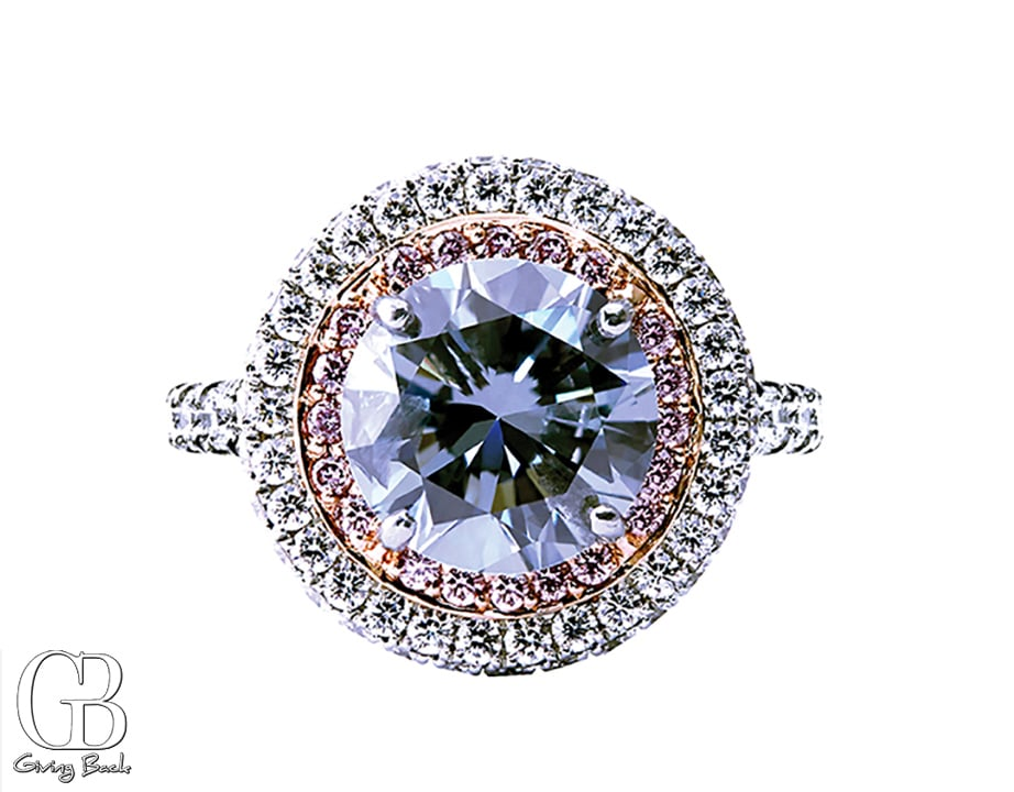 .ct Blue Diamond Ring