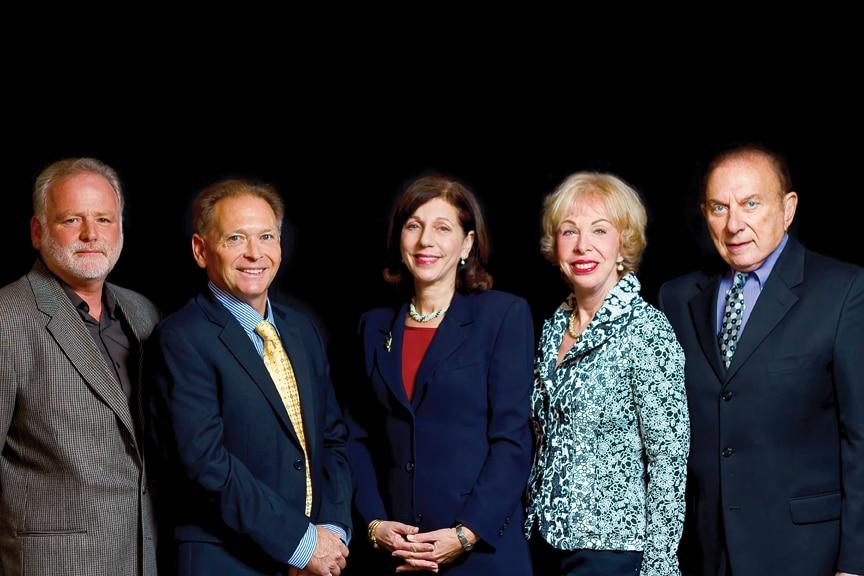 Mitzvah Award Honorees Philip Linssen, Rick Watkins, Barbara Bry, Judy and Mike Feldman