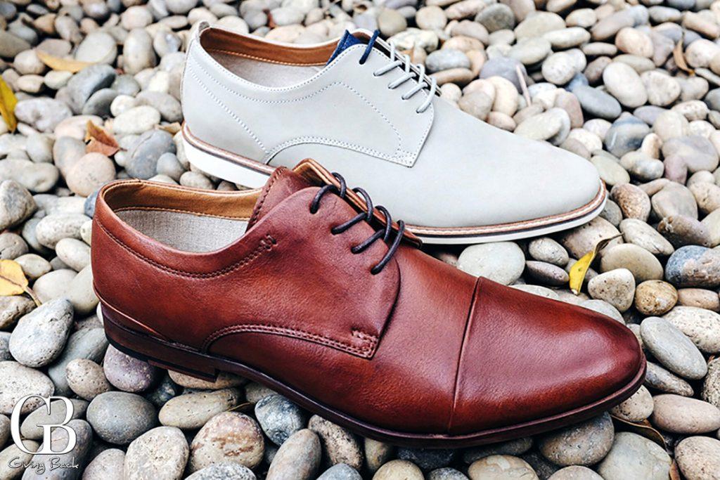 ALDO Men s Cognac Sagona Leather and Grey Rafaello Shoes