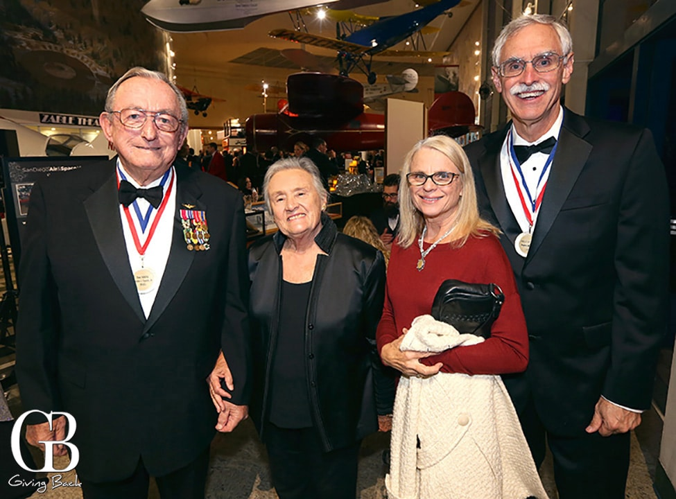 Admiral Tom Cassidy  Lynn Cassidy with Connie and Frank Pace