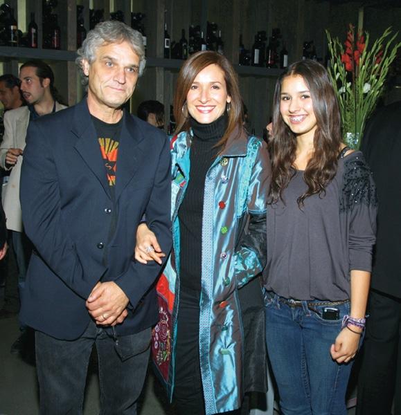 Alberto Gassol con Julia Munoz y Juliana Gassol
