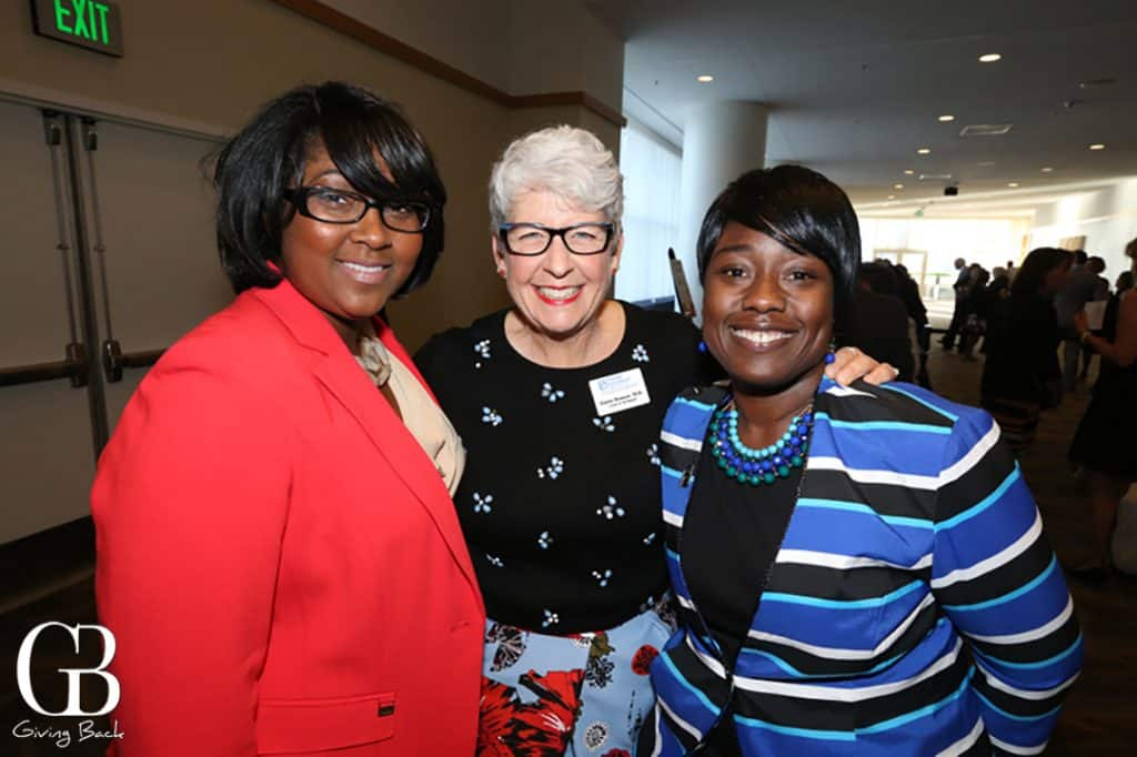 Alisha Wilkins  Elaine Hanson and Mayor Tonya Burke