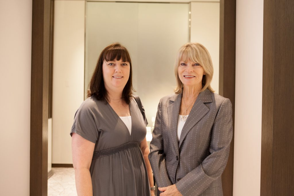 Allison Holliger and Marilyn Douglass