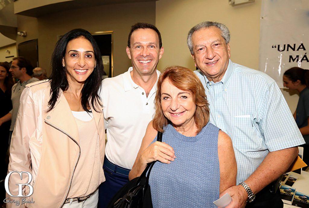 Ama y David Gaistman con Flor y Carlos Michan