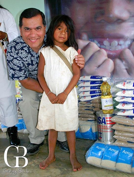 Ambassador Vasquez with young villager