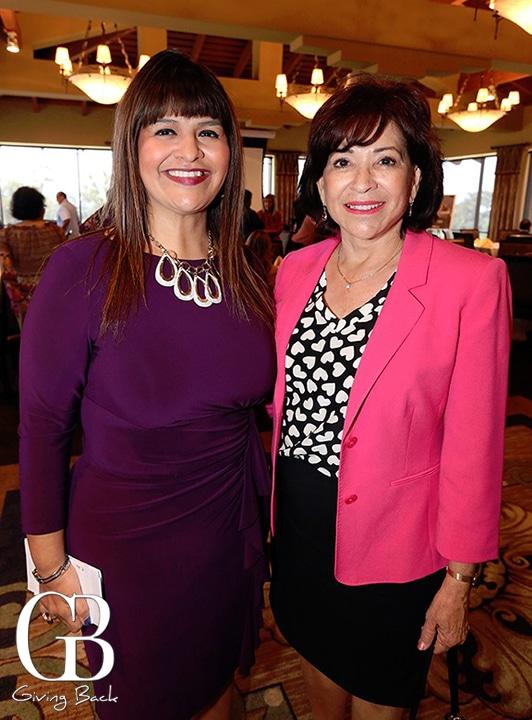 Ana Melgoza and Mayor Mary Casillas Salas