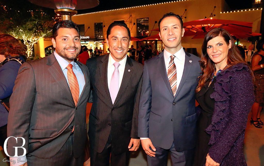 Anthony Bernal  Mayor Todd Gloria with Rafael Castellanos and Angie Lake