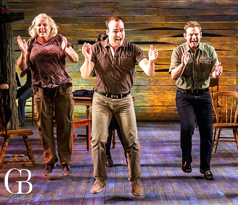 Astrid Van Wieren  Caesar Samayoa and Chad Kimball in COME FROM AWAY