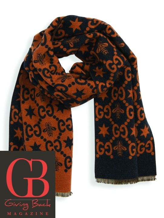 Bee Wool   Silk Scarf by Gucci