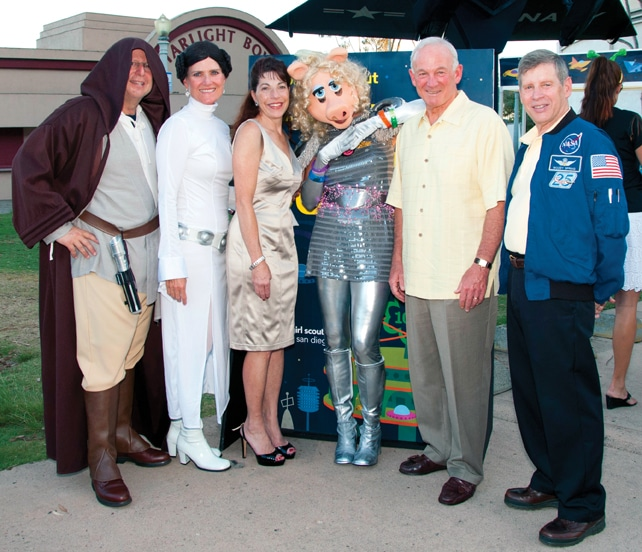 Ben and Ann Haddad, Rana Sampson, Jo Dee Jacob, Mayor Jerry Sanders and Woody Spring +
