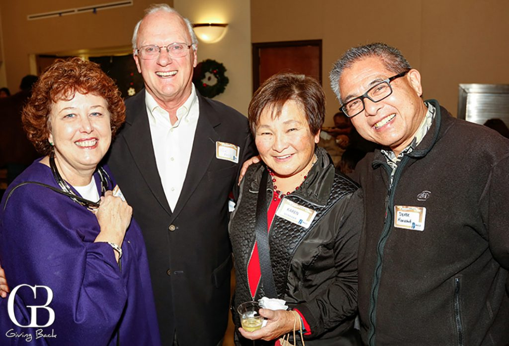 Beverly and Dick Kelly with Karen and Derek Morikawa