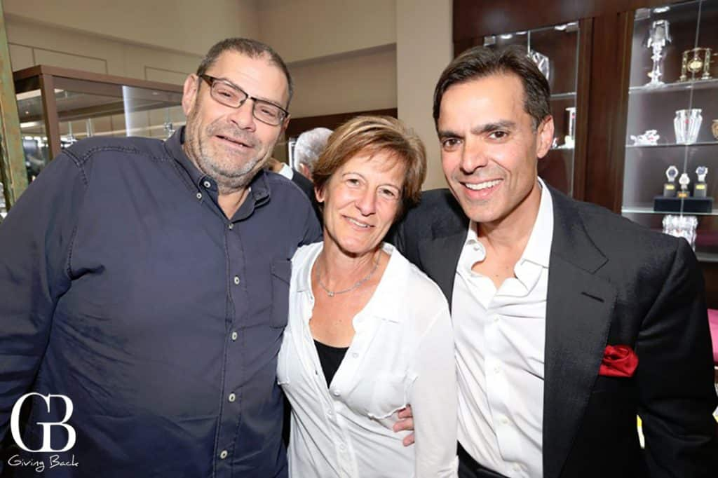 Bill and Margy Strauss with Vahid Moradi