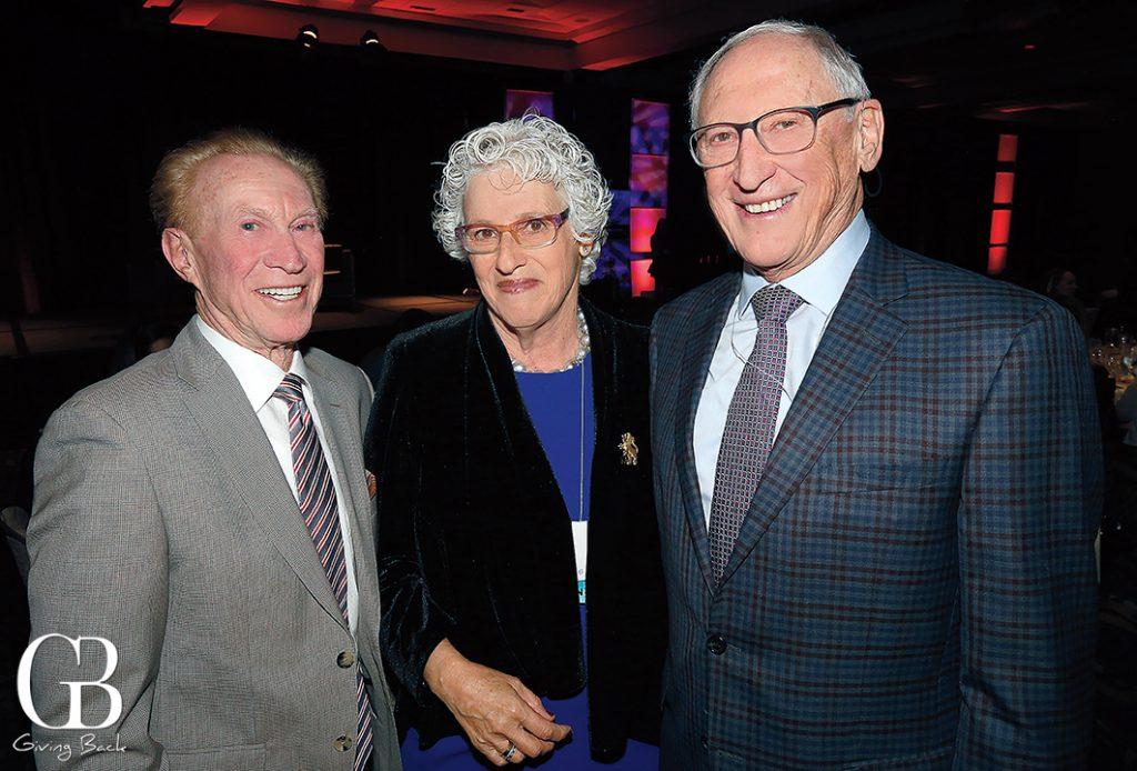 Bob Rubenstein with Claire and David Ellman