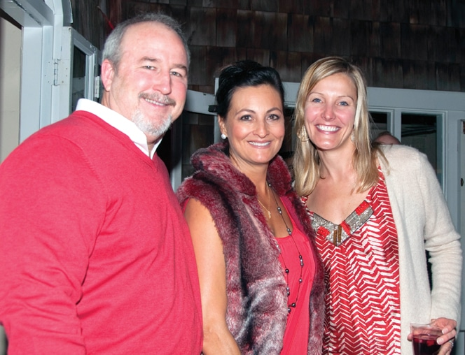 Brian and Denise Caster with Samantha Ghiselli