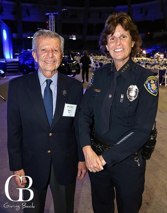 Budd Rubin and Chief Shelley Zimmerman