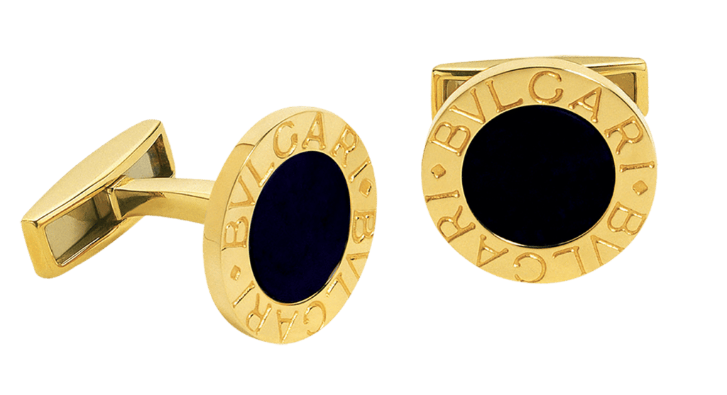 Bulgari Bulgari kt Yellow Gold   Onyx Cufflinks .png
