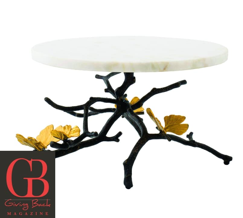 Butterfly Ginkgo Cake Stand by Michael Arm