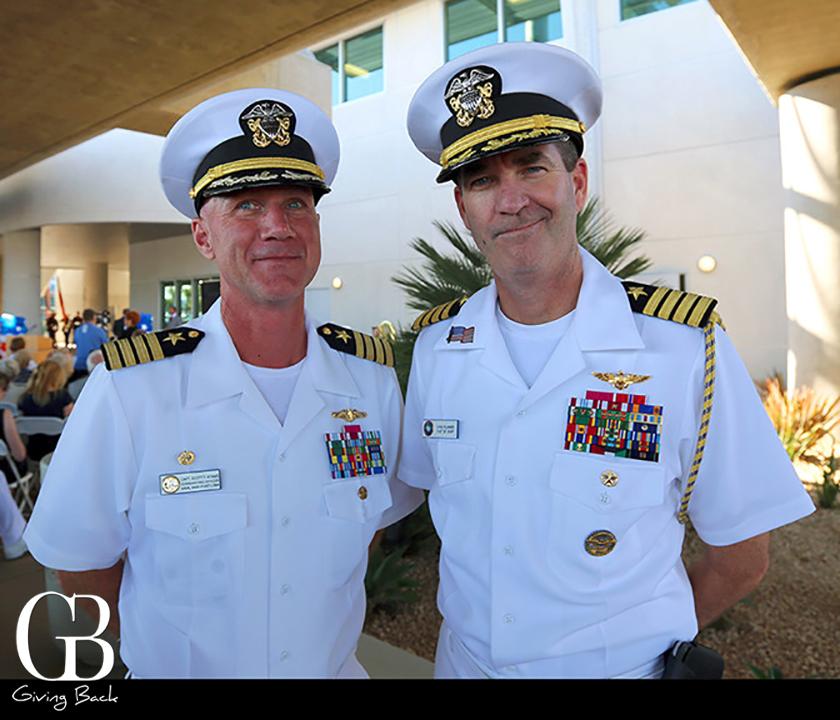 CAPT Scott Adams and CAPT Chris Plummer