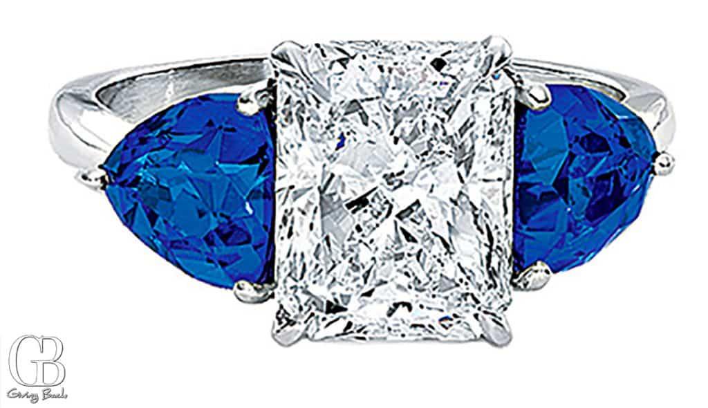 CJ Charles Riviera ct Radiant Diamond Sapphire Ring