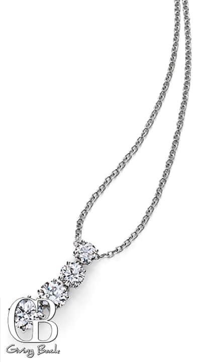 CJ  Charles Riviera Four Stone Diamond Pendant