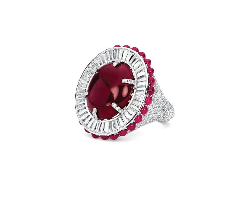 Cabochon Ruby Ballerina Ring