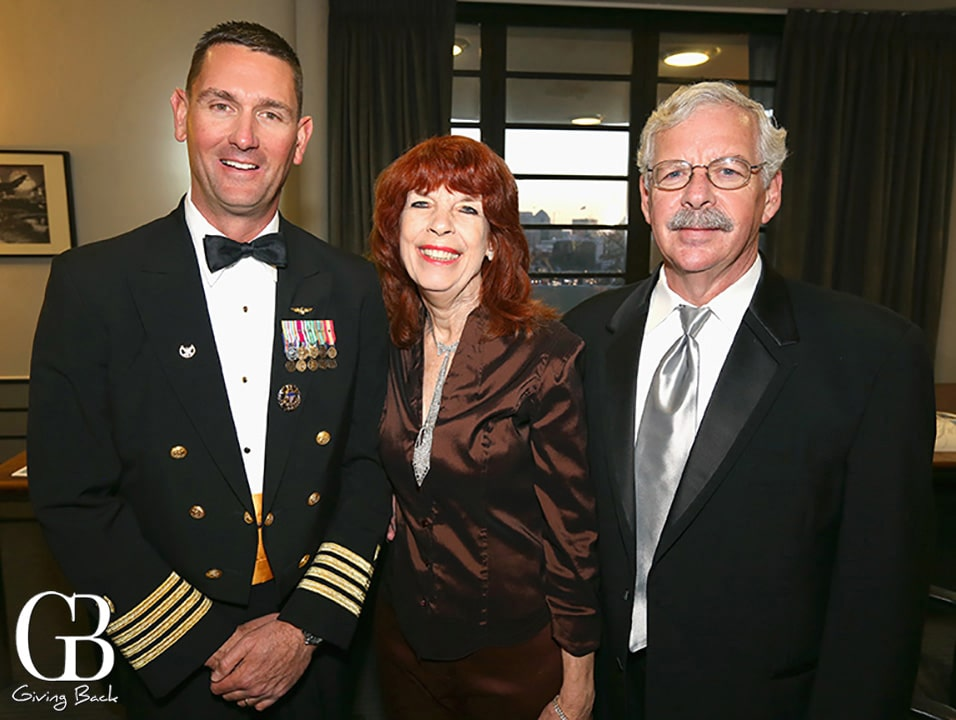 Capt. Joe Buzzella  Joan MacPherson Stokes and Stan Stokes