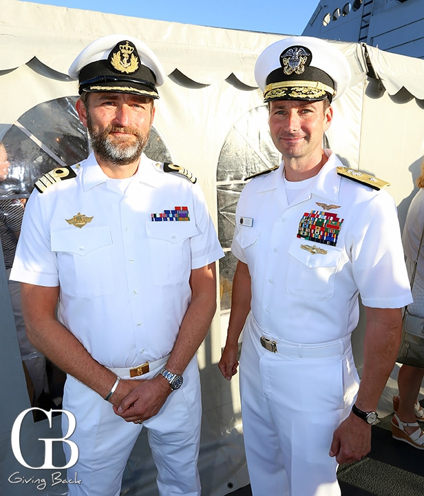 Captain Per Rostad and Rear Admiral Chris Becker