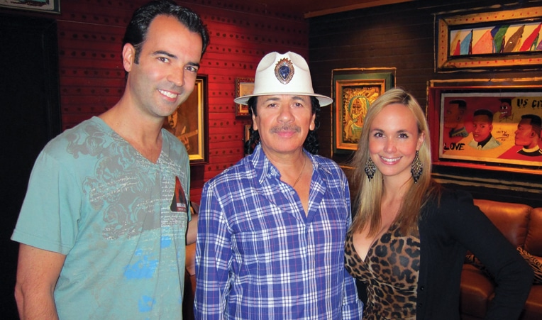 Carlos Santana with Esteban and Danitza Villanueva.JPG