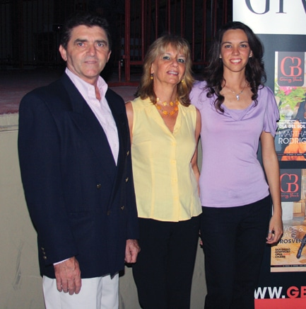 Carlos Valentin, Sonia Litre y Solange Valentin
