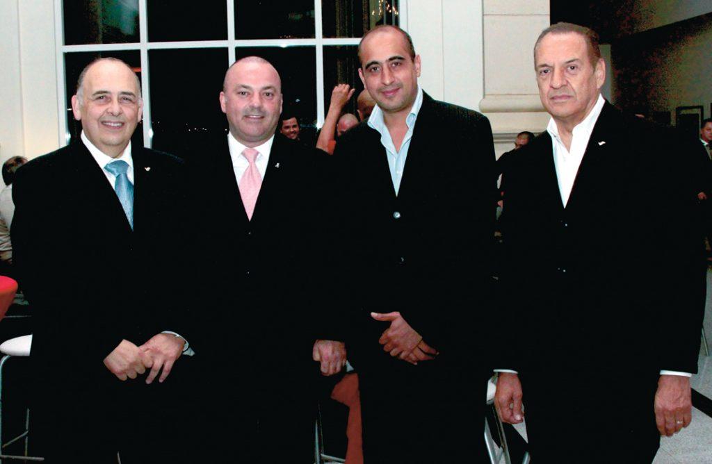 Carlos Valverde, Miguel Angel Badiola, Naim Lajud y Francisco Ramirez