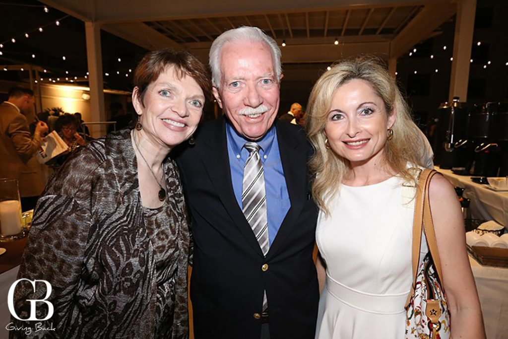 Carol and Ted McLaughlin with Emanuela Patroncini