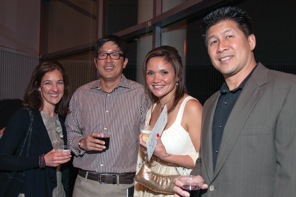 Catherine and Stephan Lee with Rita Albert and Allyn Pon
