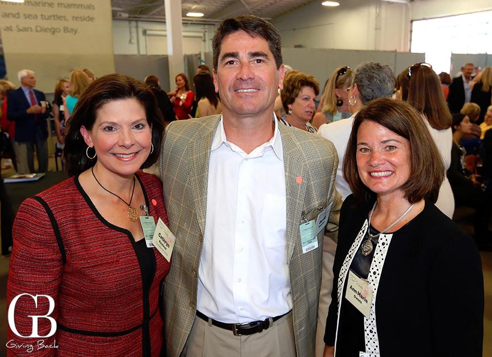 Cathryn and David Ramirez with Ann Owens