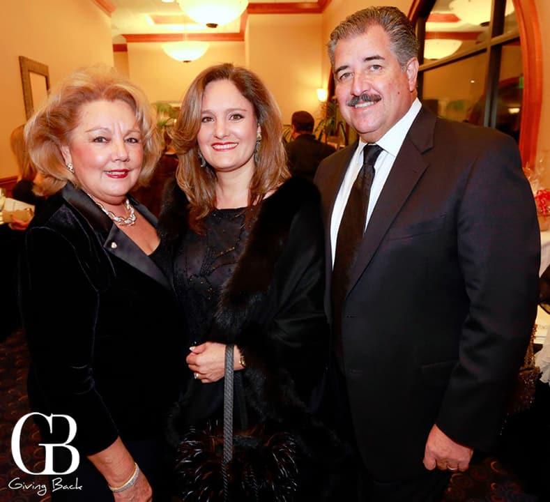 Cecilia Stoupignan with Fernando and Farah Palomas