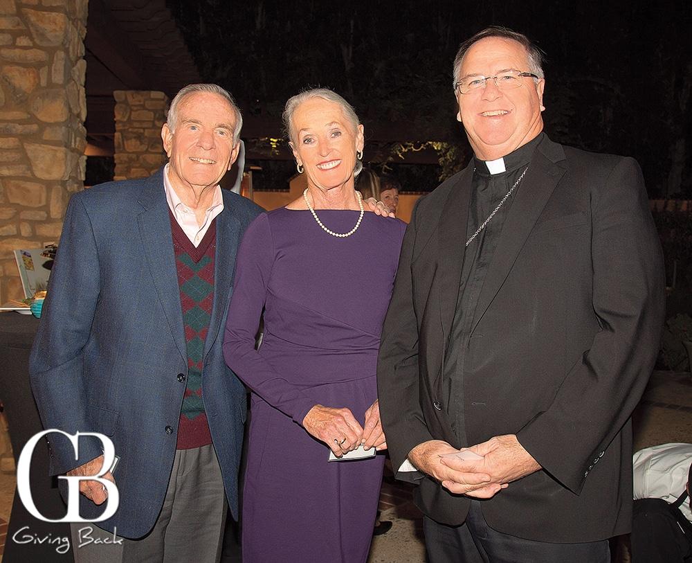 Charlie and Maureen King with Bishop John Dolan