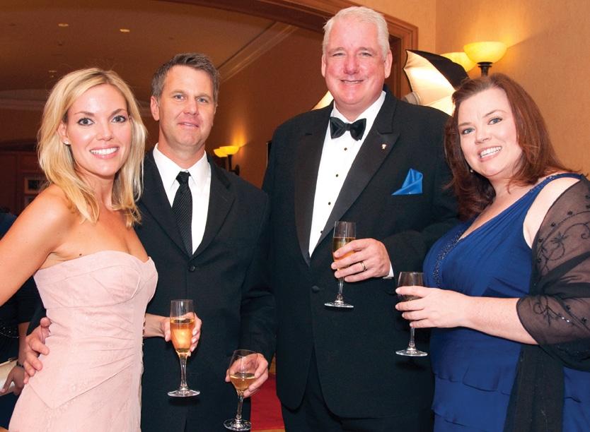 Charlotte Mangold and Kyle Hogan with Sean and Kelly Duggan