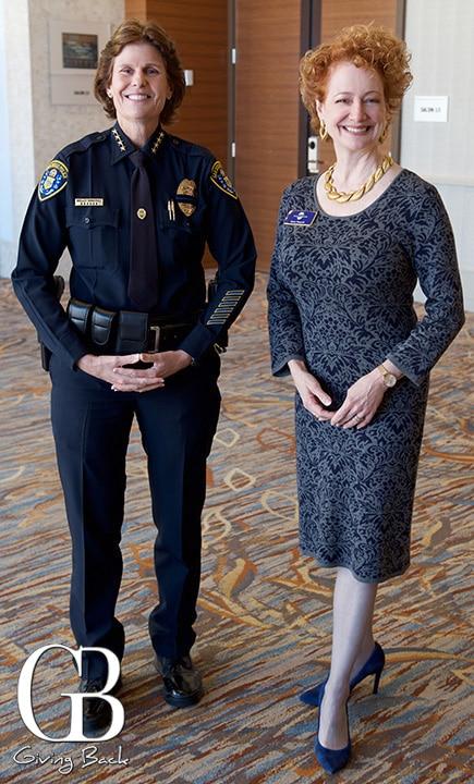 Chief Shelly Zimmerman and Sara Napoli