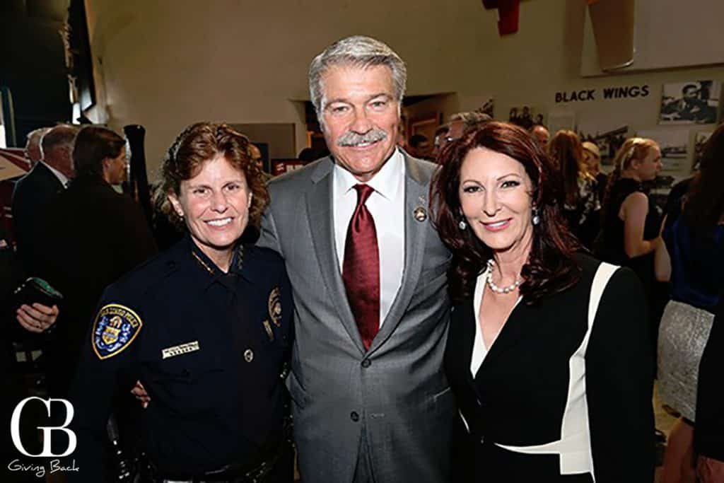 Chief Shelly Zimmerman with George and Helene Gould
