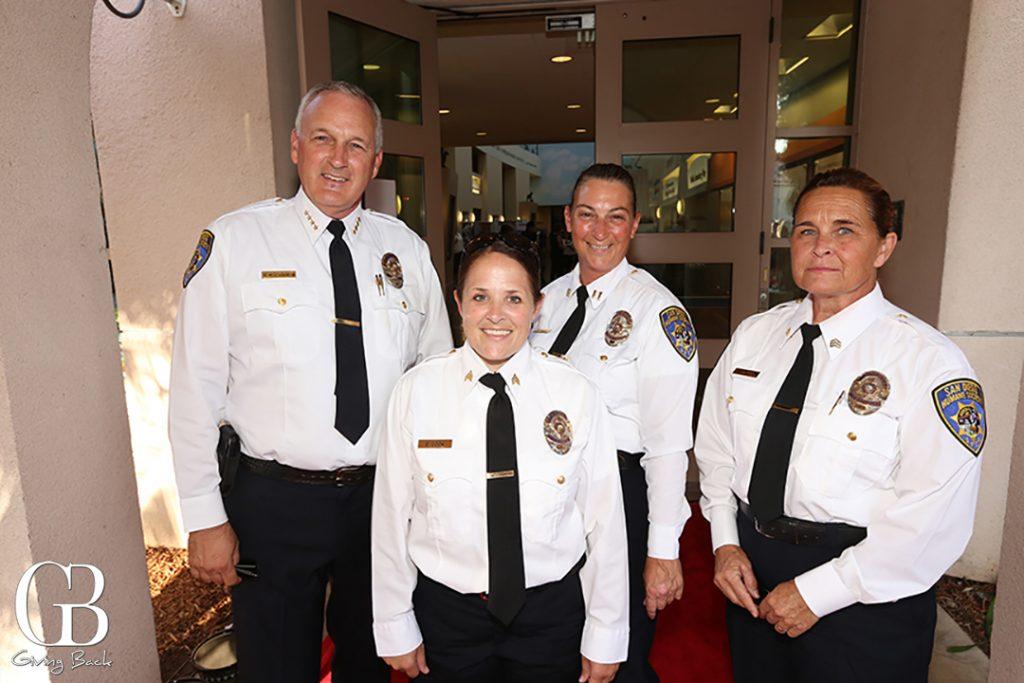 Chief Steven Mackinnon  Sergeant Danny Cook  Captain Melissa Jones and Sergeant Lauren Monreal