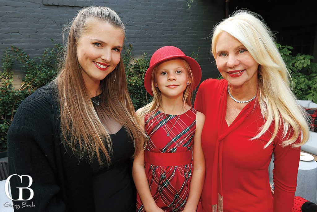 Christina and Nadeline Maggiora with Kathryn Vaughn