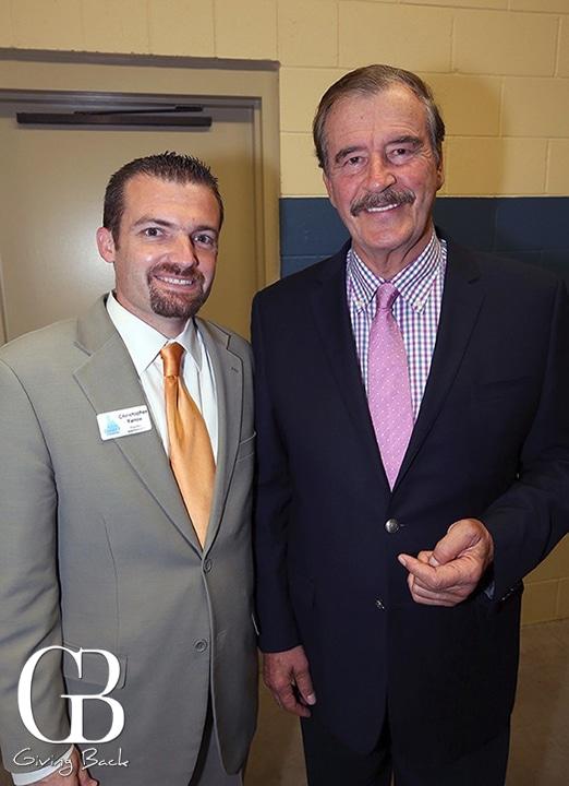 Christopher Yanov and Presidente Vicente Fox