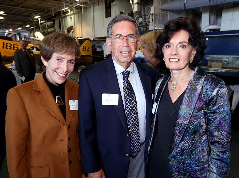 Cindy Goodman with Joseph and Linda Satz
