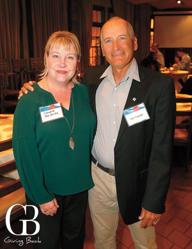 Claudine Van Gonka and Robert Tressler