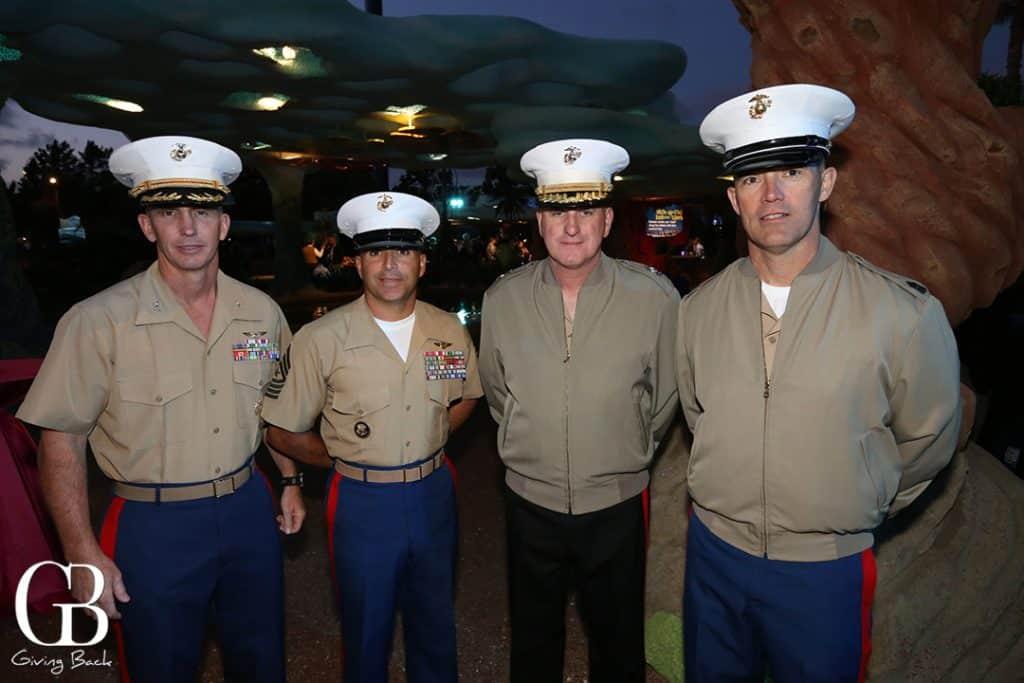 Col. John Farnam  Sgt. Maj. Rich Charron  Maj. Gen. Steve Busby and Sgt. Maj. Lynn Kimble