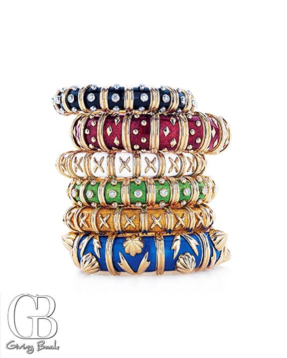 Colorful enamel bracelets